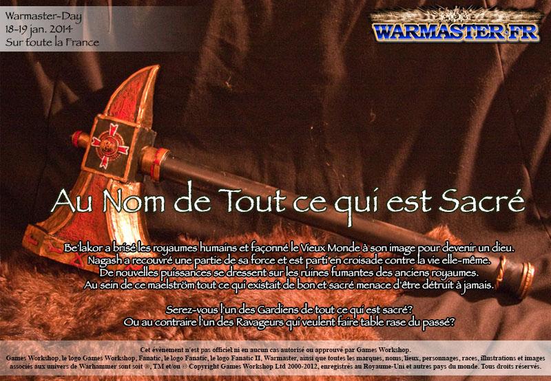 [LYON] TUS au Warmaster Day 2014 AuNomDeToutCeQuiEstSacreFlyer